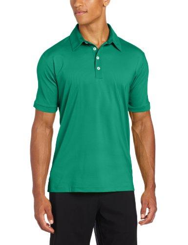 adidas Golf Men's Climalite Stretch Microstripe Jersey Polo, Celtic/White, Medium