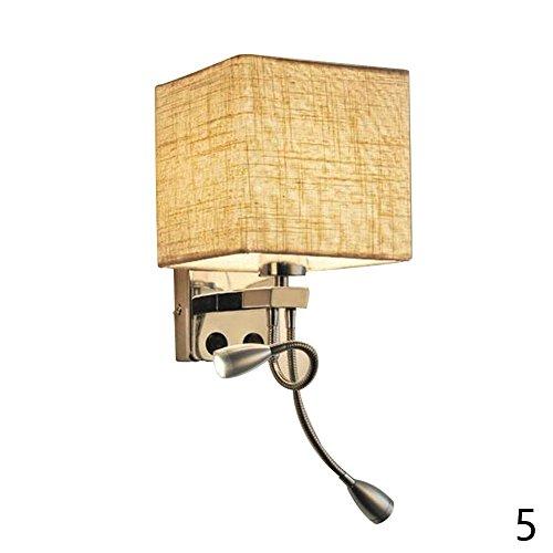 BleuMoo Modern Mirror Bedside Wall Lamps Led Hose Rocker Arm Reading Wall Light (2#) by BleuMoo