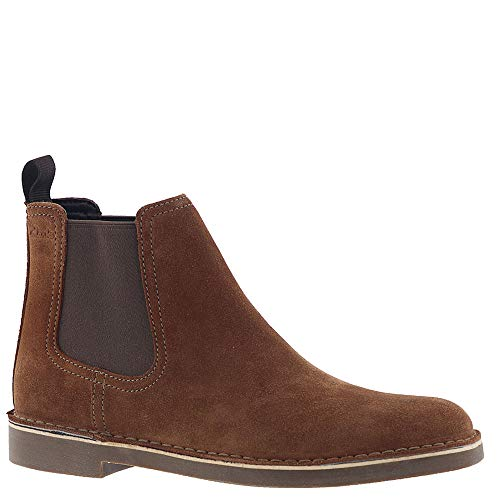 CLARKS Men's Bushacre Hill Chelsea Boot, tan Suede, 080 M US from CLARKS