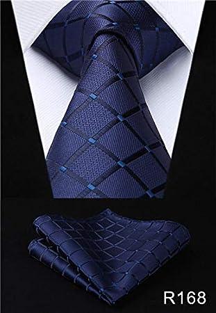 LUHELDM Seda Tejida Hombres de la Boda Corbata Corbata pañuelo ...