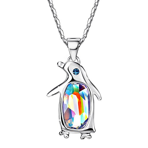 Neoglory Jewelry Crystal Penguin Birthstone Pendant Necklace Women Gift Jewelry