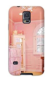 Cynthaskey Fashion Protective Pink Baby Girl Nursery Case Cover For Galaxy S5