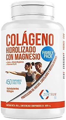 Colágeno hidrolizado con calcio para huesos y articulaciones – Colágeno con vitamina C y vitamina D para ayudar a la energía del día a día (450)