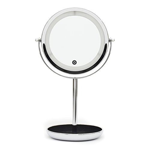 cover-girl-double-sides-lighted-led-table-mirror-with-touch-dimmer