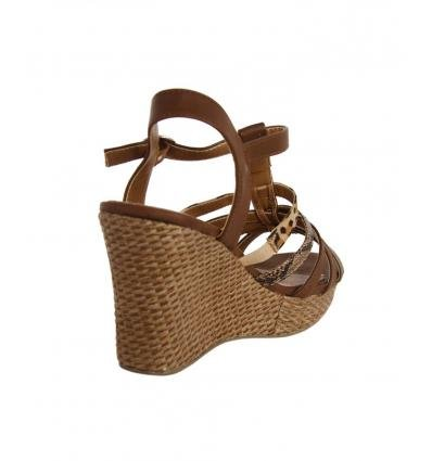 Sandalias de Mujer URBAN 735420-B7200 COGNAC-MTAUPE