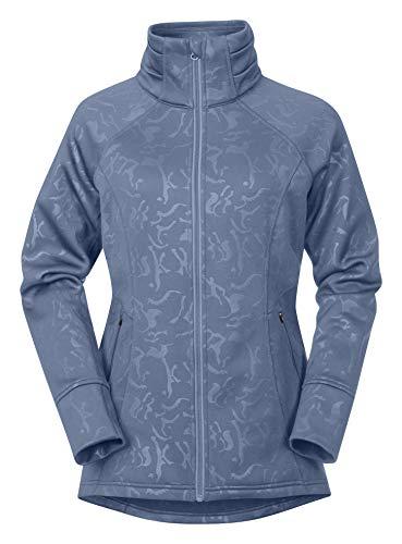 Kerrits Flex Fleece Jacket Denim Embossed Horse Size: Large