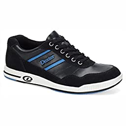 Dexter Mens David Bowling Shoes- Left Hand (7 1/2 M US, Black/Blue)