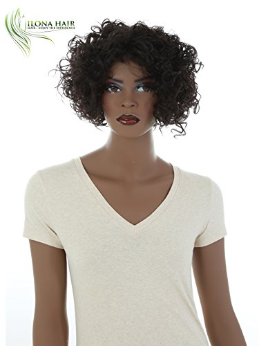 Search : Short Curly Wig for Black Woman Brown Afro Style Wig BEGA African-American Hair Collection (6)