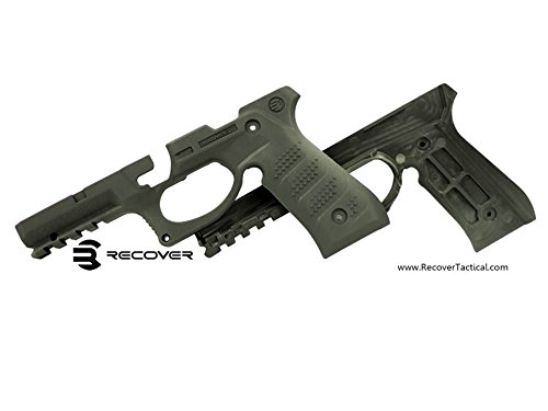 Recover Tactical BC2O BC2 Grip & Rail System, Beretta 92/M9, Olive Drab (Centurion Rail)