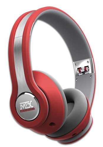 MTX Audio IX1-Red Street Audio On Ear Acoustic Monitors - Red by MTX (Image #2)