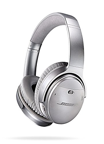 Bose QuietComfort 35 (Series I) Wireless Headphones, Noise Cancelling – Silver