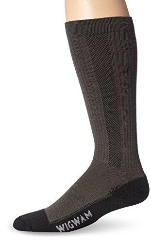 Wigwam Men's Ultimax Tall Boot Pro Sock,Charcoal,Large/shoe Size:Men's 9-12,Women's 10-13