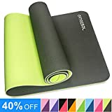 arteesol Yoga Mat, Non-Slip Exercise Mat Pollutant-Free TPE Fitness Mat with Carrying Strap for Yoga/Pilates/Exercises/Gymnastics-183 x 61 x 0.6 cm-8 Colors