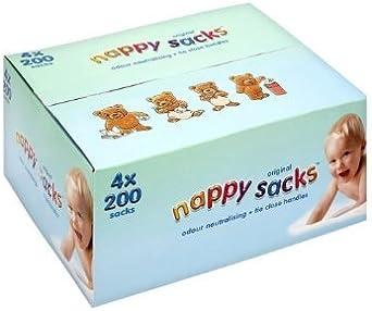 Bolsas de pañales Jumbo Box – 4 x 200 unidades (800 en total)
