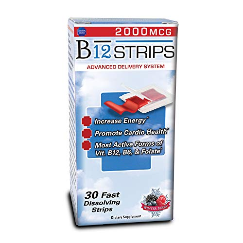 B12 Strips – 2000mcg – W/B6, Folate, Biotin