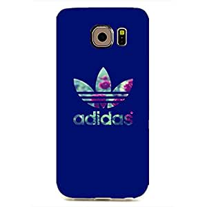 Creative Adidas Originals Logo Case Design 3D Hard Plastic Case Cover Snap on Samsung Galaxy S6 EDGE Adidas Logo Design
