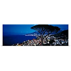 Great BIG Canvas Poster Print entitled Amalfi Coast Positano Italy