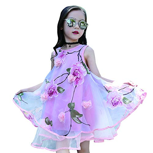 (childdkivy Baby Girls Summer Dress Bohemian Fashion Clothes (5(4-5year), Flower Princess))