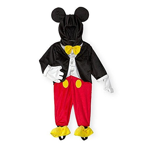 Mickey Mouse Ears With Gloves (Disney Boys Black/Red Mickey Mouse Costume -6/9 Months)