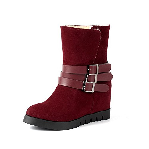 On Pull Retro Frosted Solid Claret AdeeSu Girls Boots 5zqqE