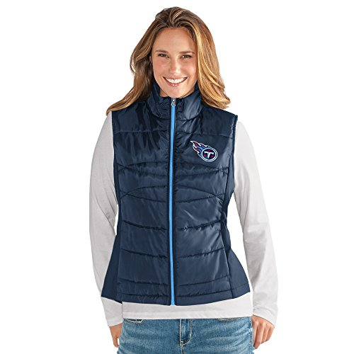Titan Wing - GIII For Her NFL Tennessee Titans Women's Wing Back Vest, X-Large, Navy