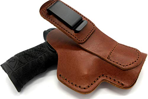 Cebeci Arms Right Hand Shirt Tuck TUCKABLE IWB AIWB Inside Pants Concealment Holster in Brown Leather for Taurus Millennium Series, PT111 140 145 745 G2 G2s G2c