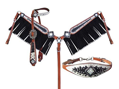 (Showman Stingray and Filigree 4 Piece Headstall & Breast Collar Set)