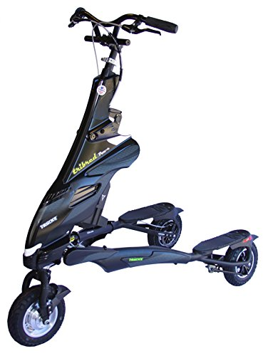 Trikke Tech 48V Deluxe Electric Scooter, Black
