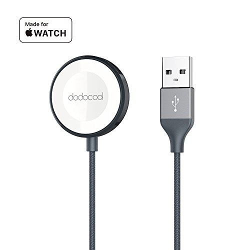 dodocool Apple Watch Charger Cable [MFi Certified] Magnetic iwatch Charger Cable Nylon Braided Scratch Resistant 38mm/42mm Apple Watch Series 3/Apple Watch Series 2/Apple Watch Series 1 (3.3ft) by dodocool
