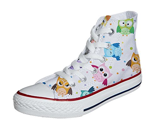 Tiny Customized All Converse producto Zapatos Artesano Personalizados Owls Star 01pw6xn