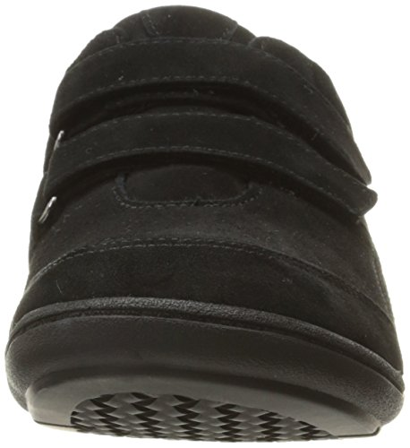 Suede Sneaker Double Strap Women's Aravon Bromly Fashion Black qf6E0x