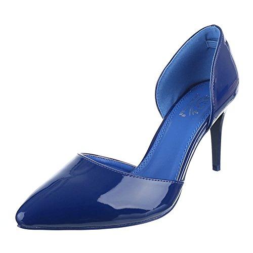 Ital Scarpe design Donna Con Tacco blu Blu qnHvrqPxw