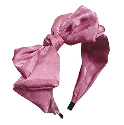 UROSA Lovely Womens Girls Fabric Sweet Big Ribbon Bow Non-Slip Wide Hair Band Headband Headwear -