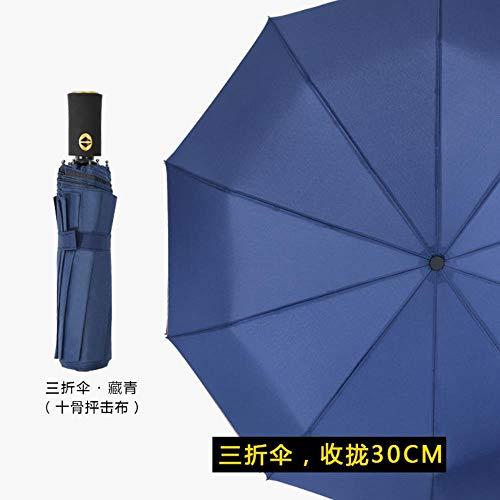 2018 automatic creative umbrella advertising umbrella Tianze umbrella,Navy, round handle sniper cloth ()