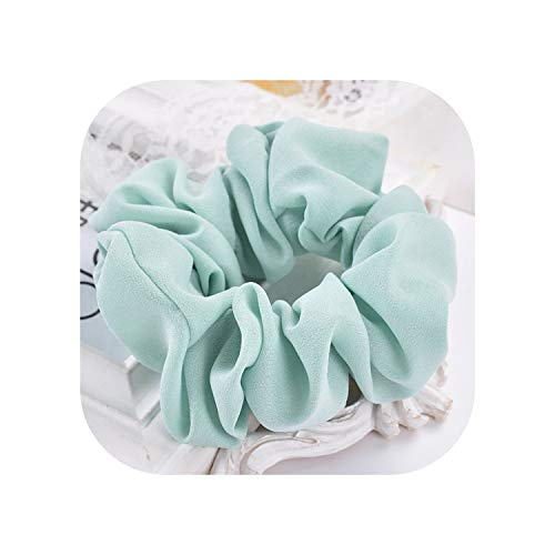 Classical Design Women Hair Accesorios Pelo Female Hair Tie Scrunchie Ponytail Hair Holder Rope Chiffon Headwear F020,Tender green,One Size (Cat Chewing Hair Off End Of Tail)