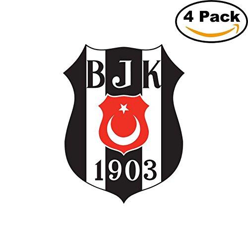 fan products of Besiktas JK Turkey Soccer Football Club FC 4 Stickers Car Bumper Window Sticker Decal 4X4
