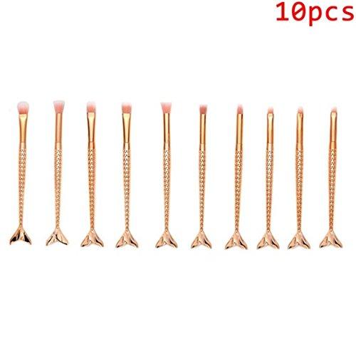 Lanpan Mermaid tail makeup brush sets brush 16PCS Make Up Fo