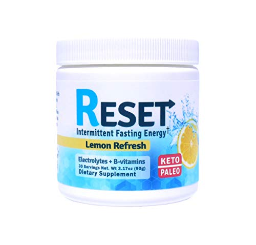RESET - New! Fasting Hydrating Energy Powder, Keto, B-Complex, Electrolytes, Green Tea and Green Coffee Extracts, 30 Servings, Sugar Free, Morning and Afternoon Energy Boost! (Best Supplements For Intermittent Fasting)