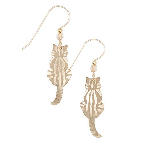 Sitting Kitty Earrings, Hypoallergenic Animal Drop Earrings for Women and Girls, Cat Dangle Earring Set, Bohemian Glass Fashion Jewelry - Holly Yashi ()