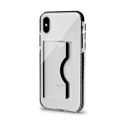 Artifit iPhone X Case, Slim Wallet Case Card Holder & TPU Shockproof Soft Bumper Military Grade Drop Protection Card Slot Grip Protective Cover Case for iPhone X/10,Black by Artifit