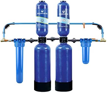 Aquasana Whole House Water Filter System w/ Salt-Free Conditioner- Filters Sediment & 97% Of Chlorine - Carbon & KDF Home Water Filtration