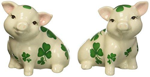 Shamrock Porcelain - Cosmos Gifts 20789 Shamrock Pigs Salt and Pepper Shakers