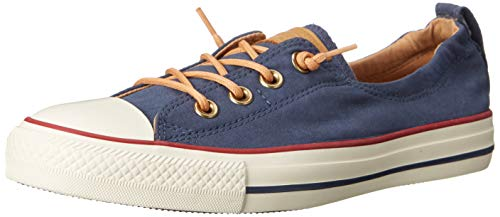 (Converse Chuck Taylor All Star Shoreline Navy Red Lace-Up Sneaker - 8 B(M) US)