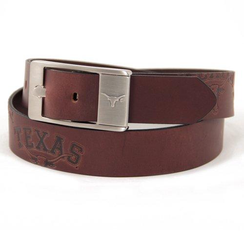 Brown Texas Longhorns Branded Leather Belt (Texas Longhorns Belt)