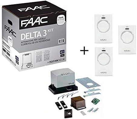 Faac Promo Delta 3 - Kit de automatización de puerta corredera para motor 741 ER Z16 con tarjeta electrónica, peso máximo 900 kg, 105630445: Amazon.es: Bricolaje y herramientas