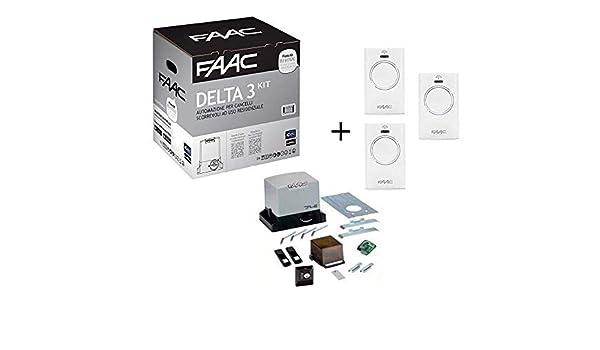 Faac Promo Delta 3 - Kit de automatización de puerta corredera ...