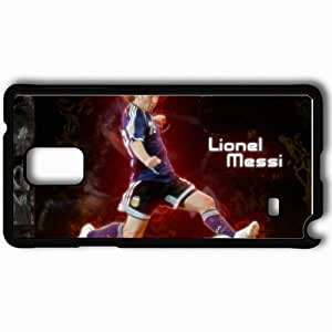 Personalized Samsung Note 4 Cell phone Case/Cover Skin Cool lovely de lionel messi Black