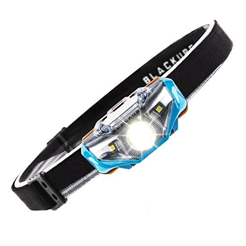 Lightweight Headlamp Ultra Bright Portable LED Headlamp (Only 1.69Oz),7 Lighting Modes,IPX6 Waterproof,Best Headlight for Camping,Running,Hiking and Kids,1AA Battery included (Blue)