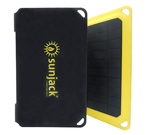 SunJack 15W Solar Charger Portable Solar Panel with USB for Cell Phones, Tablets...