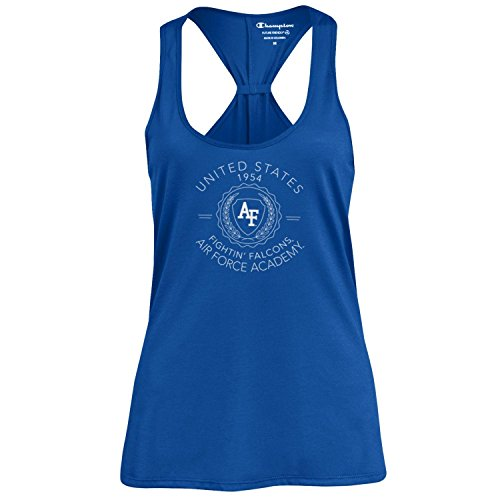 Champion NCAA Women's Swing Silouette Racer Back Tank Top, Air Force Falcons, Small